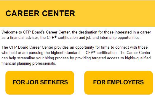 CFP Board Career Center