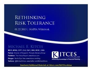 Rethinking Risk Tolerance - NAPFA Webinar - Jan 22 2015 - Handouts-thumbnail