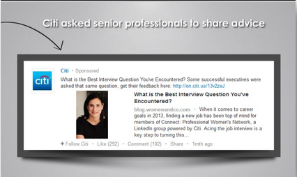 Citi Asked Senior Professionals to Share Advice