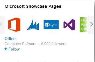 LinkedIn Company Showcase Pages - e.g., Microsoft