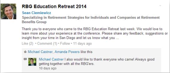 RBG Education Retreat 2014