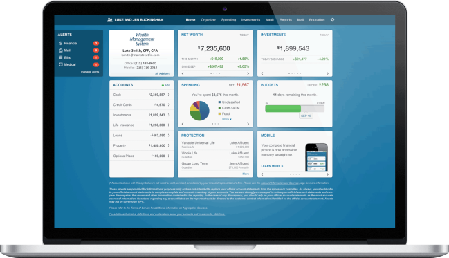eMoney Advisor Client PFM Dashboard Tools