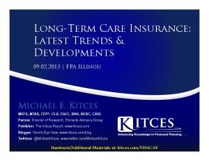 Long-Term Care Insurance Trends & Developments - FPA Illinois - Sep 2 2015 - Handouts
