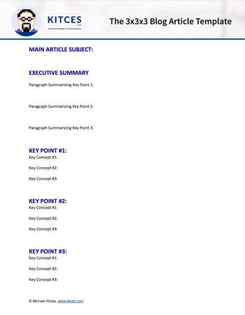 3x3x3 Financial Advisor Blog Article Template
