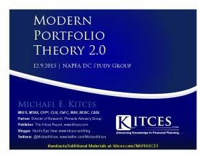 Modern Portfolio Theory 2.0 - NAPFA DC - Dec 9 2015 - Cover Page-thumbnail