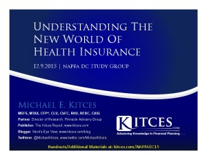 Understanding The New World Of Health Insurance - NAPFA DC - Dec 9 2015 - Cover Page-thumbnail