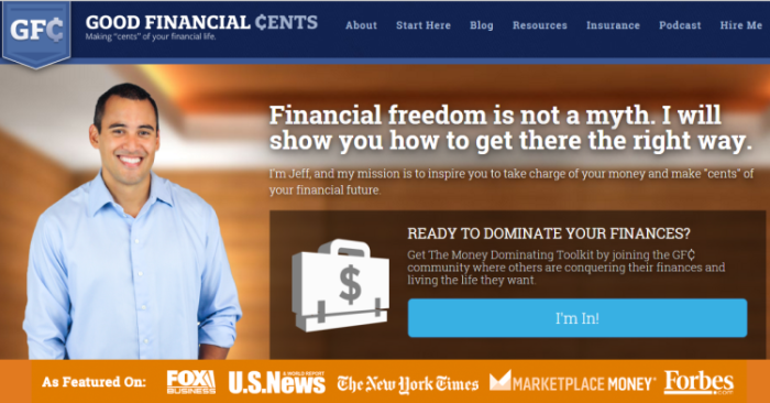 Jeff Rose Good Financial Cents Homepage