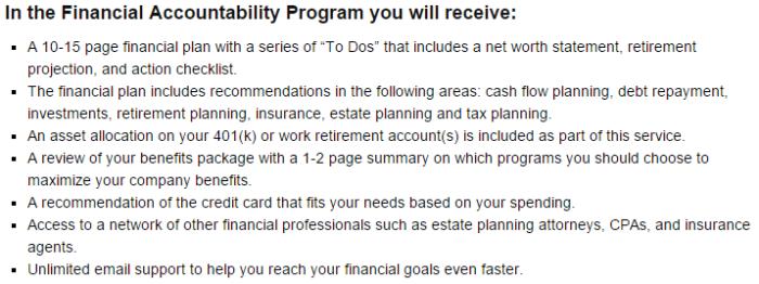 Sophia Bera Gen Y Planning Financial Accountability Program