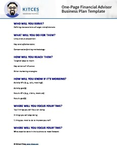 one page business plan template .