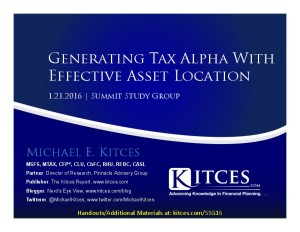 Generating Tax Alpha With Effective Asset Location - Summit Study Group - Jan 21 2016 - Cover Page-thumbnail