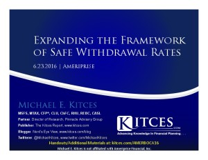 Expanding the Framework of Safe Withdrawal Rates - Amerprise - Jun 23 2016 - Cover Page-thumbnail