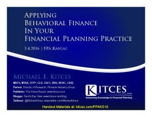 Applying Behavioral Finance In Your Financial Planning Practice - FPA Kansas - May 4 2016 - Cover Page-thumbnail