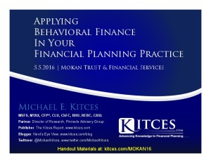 Applying Behavioral Finance In Your Financial Planning Practice - Mokan Trust - May 5 2016 - Cover Page-thumbnail