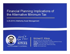 Financial Planning Implications of the AMT - Wetherby - Apr 28 2016 - Cover Page-thumbnail