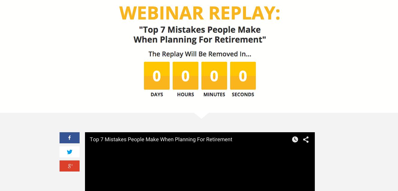 Jeff Rose Sample Webinar Replay Landing Page