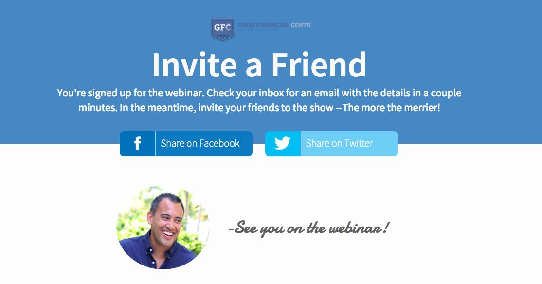 Jeff Rose Sample Webinar Thank You Landing Page