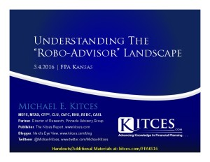 Understanding The Robo-Advisor Landscape - FPA Kansas - May 4 2016 - Cover Page-thumbnail