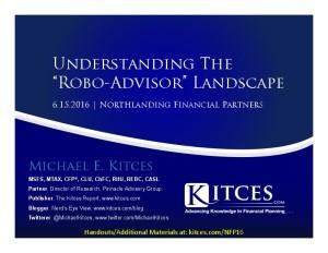 Understanding The Robo-Advisor Landscape - Northlanding Financial - Jun 15 2016 - Cover Page-thumbnail