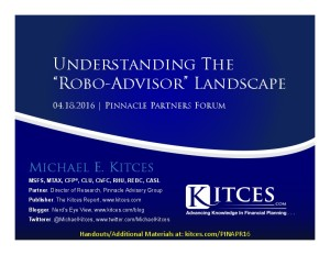 Understanding The Robo-Advisor Landscape - Pinnacle Partners Forum - Apr 18 2016 - Cover Page-thumbnail