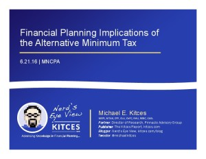 Financial Planning Implications of the AMT - 2016 Update - MNCPA - Jun 21 2016 - Cover Page-thumbnail