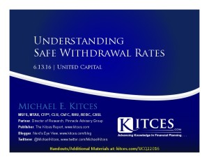 Understanding Safe Withdrawal Rates - United Capital Webinar - Jun 13 2016 - Cover Page-thumbnail