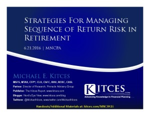Understanding Sequence-Of-Return Risk And How To Manage It - MNCPA - Jun 21 2016. - Cover Page-thumbnail