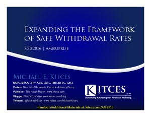 Expanding the Framework of Safe Withdrawal Rates - Ameriprise - Jul 28 2016 - Cover Page-thumbnail