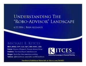 Understanding The Robo-Advisor Landscape - BAM Alliance - Jun 22 2016 - Cover Page-thumbnail