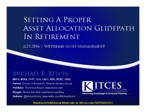 Setting A Proper Asset Allocation Glidepath In Retirement - Wetherby - Aug 25 2016 - Cover Page-thumbnail