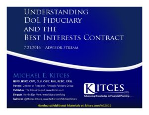 Understanding DoL Fiduciary And The Best Interests Contract - Advisor Stream - Jul 21 2016 - Cover Page-thumbnail