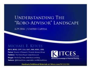 Understanding The Robo-Advisor Landscape - United Capital - Aug 29 2016 - Cover Page-thumbnail