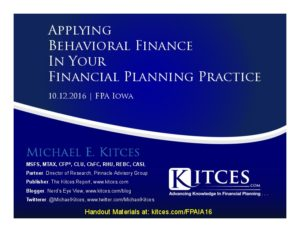 Applying Behavioral Finance In Your Financial Planning Practice - FPA Iowa - Oct 12 2016 - Cover Page-thumbnail
