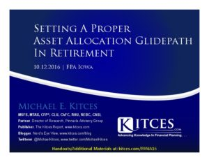 Setting A Proper Asset Allocation Glidepath In Retirement - FPA Iowa - Oct 12 2016 - Cover Page-thumbnail