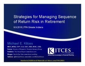 Strategies for Managing Sequence of Return Risk in Retirement It - FPA Greater Indiana - Sep 9 2016 - Cover Page-thumbnail