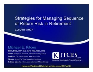 Strategies for Managing Sequence of Return Risk in Retirement It - IMCA - Sep 29 2016 - Cover Page-thumbnail