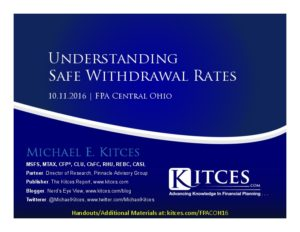 Understanding Safe Withdrawal Rates - FPA C Ohio - Oct 11 2016 - Cover Page-thumbnail