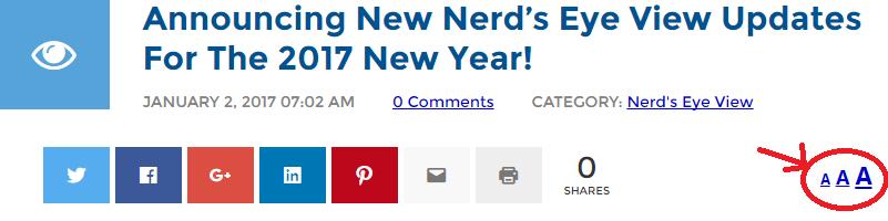 Nerd's Eye View Font Size Changer