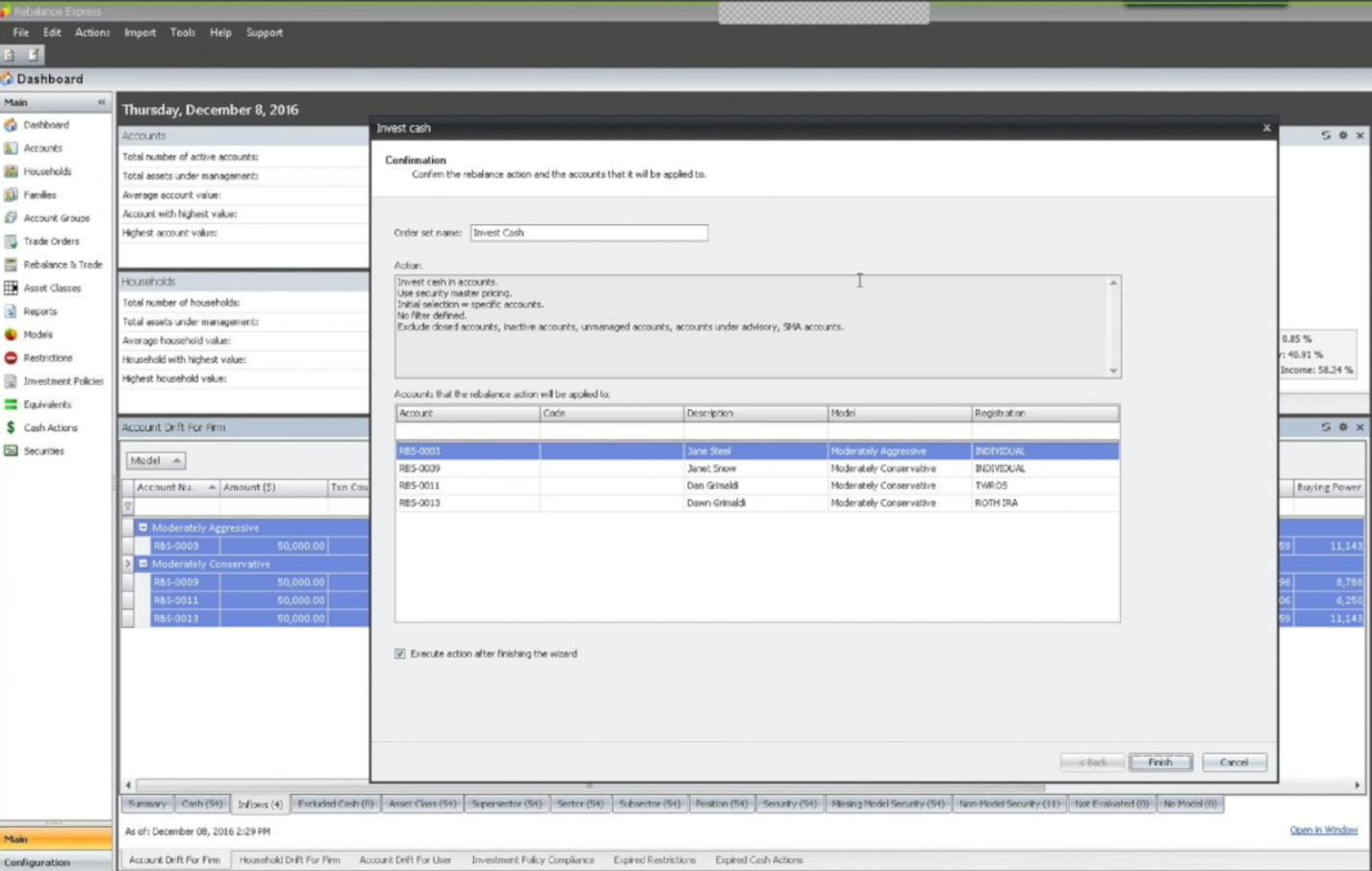 RedBlack Rebalance Express Portfolio Trading Software Capabilities via FIX Protocol