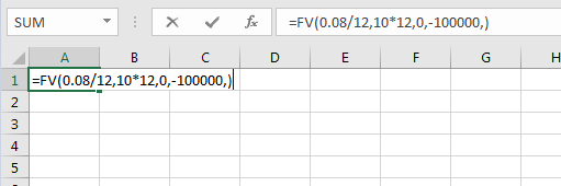 Excel FV Proper Rate Term