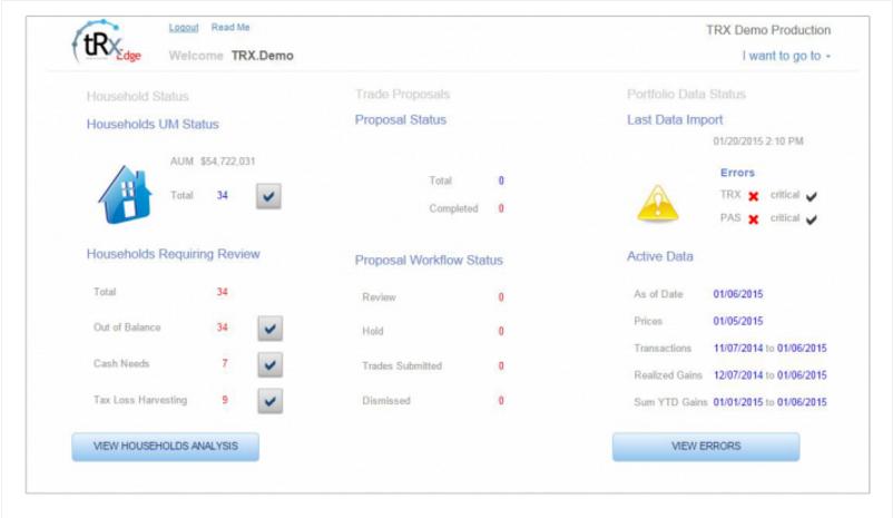 tRx Total Rebalance Expert Sample Screenshot