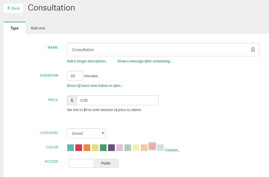 Acuity Scheduling Intake Customization