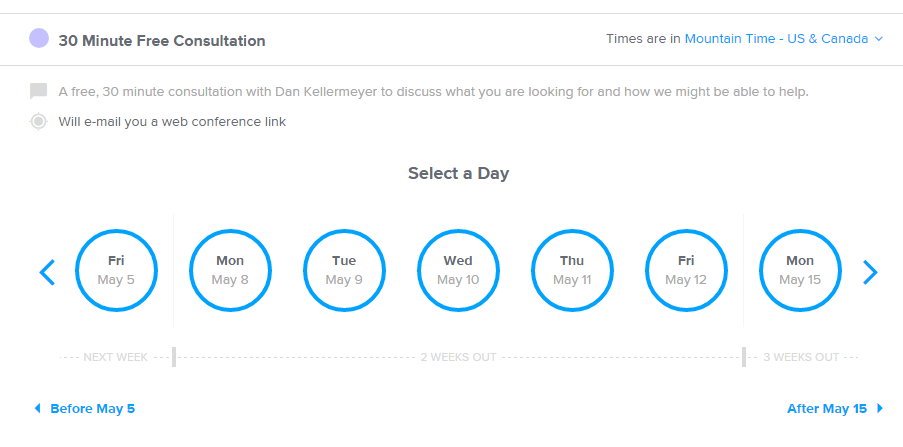 Calendly Schedule Page