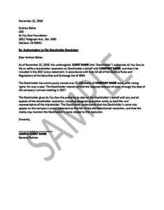 Letter of Authorization Image