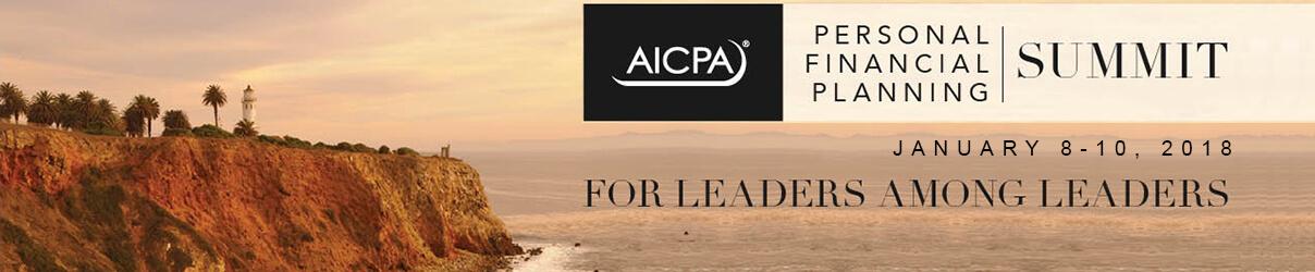 AICPA Personal Financial Planning Summit 2018