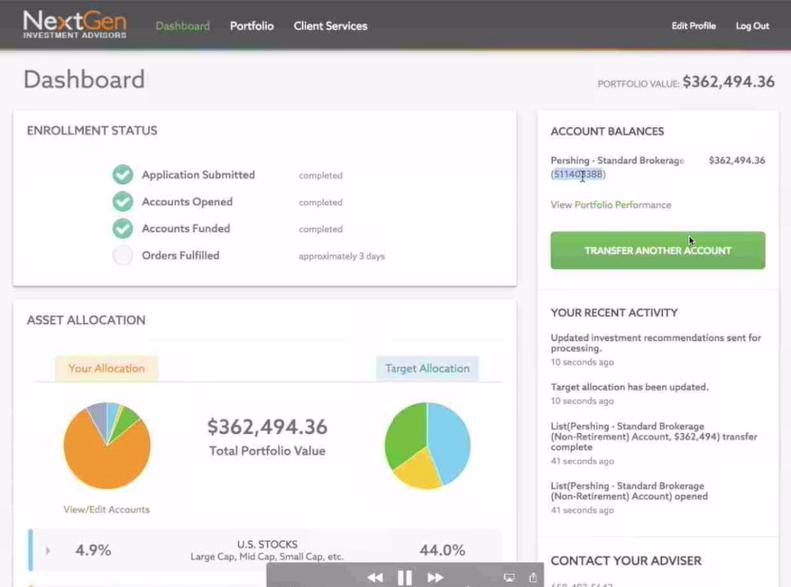 Jemstep Client Portal