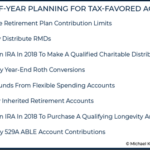 End-Of-Year Planning For Tax-Favored Accounts