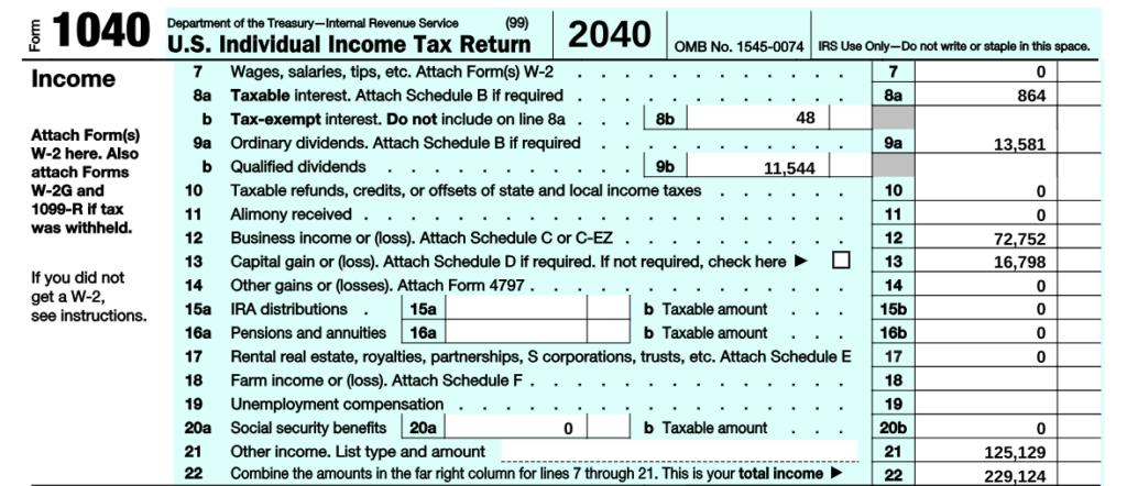 RightCapital Forgivness Tax Return