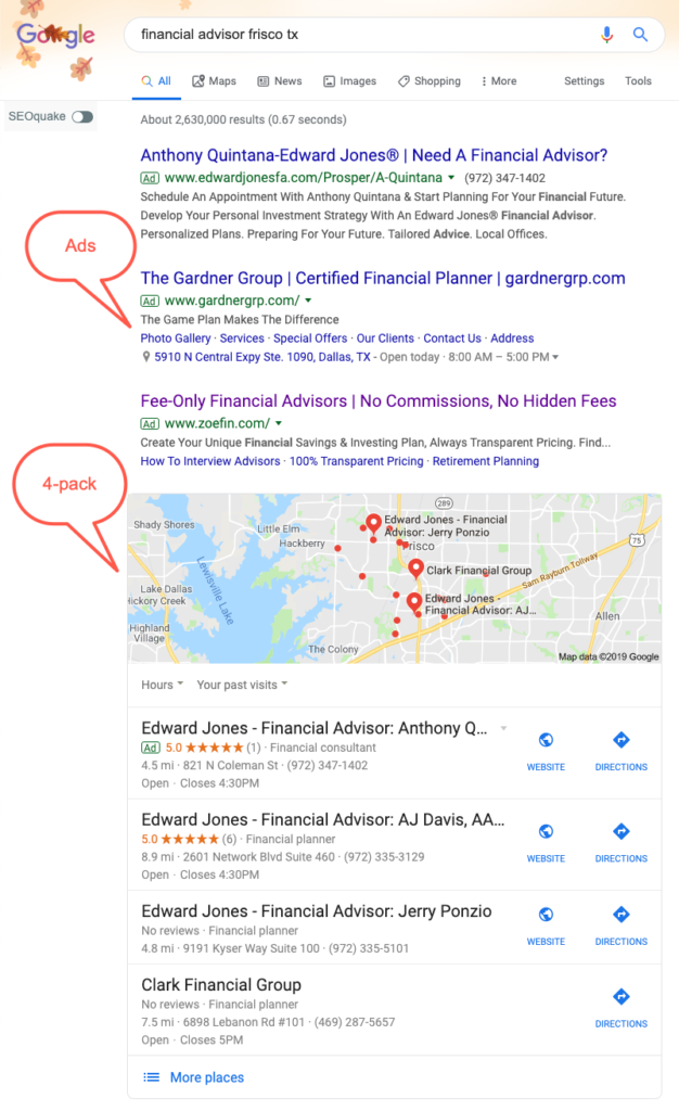 Local Financial Advisor Search Results