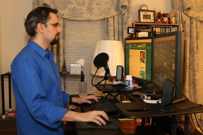 Michael At His VariDesk Standing Desk
