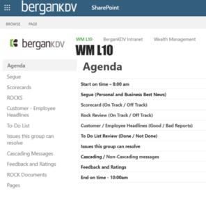 BerganKDV WM L10 Agenda